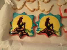 I've been wanting to do them for a long time.  little mermaid cookies