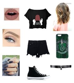 """Untitled #31"" by victoriaruthknight on Polyvore featuring rag & bone, Converse and Fallon"