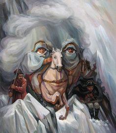 Astonishing Hidden Historical Figures Oil Paintings by Oleg Shuplyak.|FunPalStudio|Illustrations, Entertainment, beautiful, creativity, nature, Art, Artwork, Artist, optical illusion, drawings, paintings.