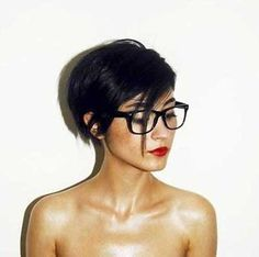 Short Hairstyles for Dark Hair | http://www.short-haircut.com/short-hairstyles-for-dark-hair.html
