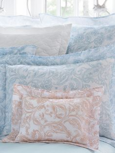 """Florissa""- a fabulous voile sheets and duvet covers by SFERRA Spring 2015."