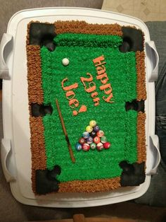 Snooker Table Cake Ideas