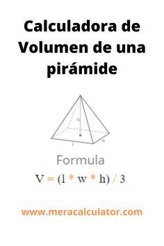 Una pirámide es un objeto sólido que tiene una base poligonal, lados triangulares que se encuentran en la parte superior. Una pirámide es una estructura tridimensional y un poliedro. #triangle #calcualtor #areacalculator #mathcalcualtor #meracalculator Online Calculator, Languages, Base, Chart, Idioms