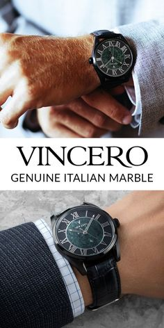Vincero watches are affordable, luxury watches offering twice the quality of other brands at half the cost. Bold, fashionable men's watch designs equipped with genuine Italian leather bands and chronograph features.