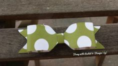 Gorgeous bow made using the envelope punch board. Season of style dsp. Stampin up.
