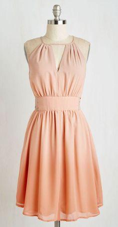 In Gradient Demand Dress in Peach