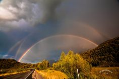 A Triple Rainbow - Near Knik, Alaska By Ralph Wilkerson