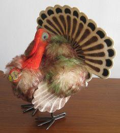 """vintage Steiff turkey """"Tucky"""""""