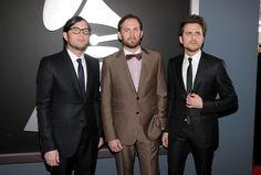 Kings of Leon on the 2012 Grammy Awards red carpet