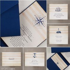 nautical wedding invitations - charming nautical symbols