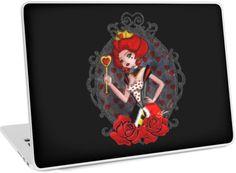 Queen of Hearts laptop skin