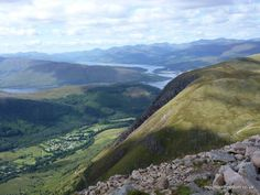 Ben Nevis. Looking out over Glen Nevis and Loch Eil - Mountain Freedom