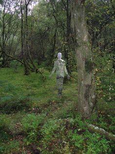 Mirror statues in the woods. Queen Elizabeth forest park (Aberfoyle) Scotland 3