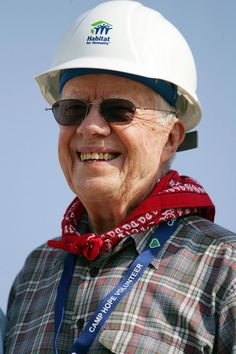 President Jimmy Carter. I met him while working with Habitat for Humanity.