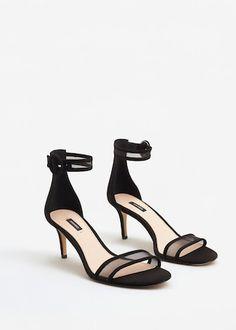 ec735d541429 Sandály s řemínkem kolem kotníku - f foSandály na podpatku Žena