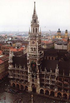 Munich, Bavaria - New Town Hall. We went up the spire.
