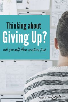 Thinking about giving up on a goal? Ask yourself these question before you do. Your goals are not worth giving up unless you are sure.