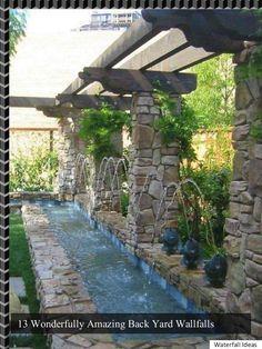 >>How Can I Build A Back yard Wallfalls? Waterfall Landscaping<<