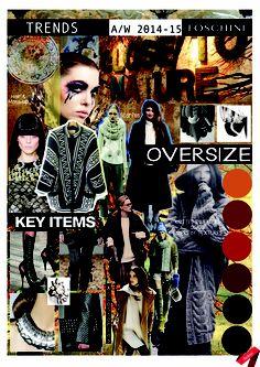 Autumn/ Winter 2014-15 trends: Key Items board. #trend #oversize #knitwear