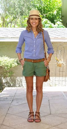 Today's Everyday Fashion: Green Shorts — J's Everyday Fashion
