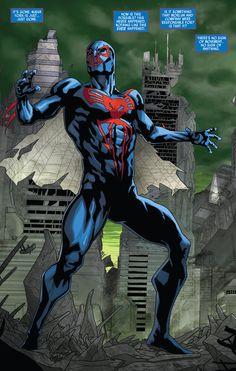 (Spider-Man 2099 v2 #9, 2015) - William Sliney, Colors: Antonio Fabela