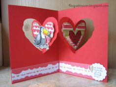 Pop It Ups Heart Pivot Card with Stampin Up Toucan of my Love stamp set