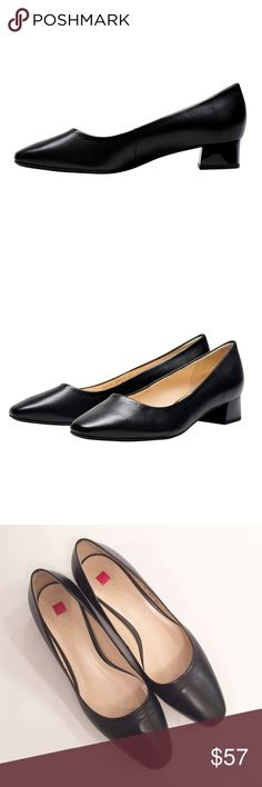New! Hogl Leather Pumps New! Hogl Leather Pumps...I knew this court shoe would be comfortable however when I slipped it on it was an AH! moment! The extra cushioning for the ball of the foot is heaven and sometimes you just need a little low heel so you don't feel quite so close to the ground. I love the contrast of nappa leather with an enamel block heel that looks like a patent leather.  A hint of uniqueness for a little extra shine in your step. Imported from Germany. New and unused…