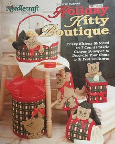 The Needlecraft Shop Holiday Kitty  Boutique Plastic Canvas Pattern 933366
