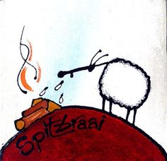 Spitbraai by Ann Gadd Ewe Sheep, Kitchen Art, Online Art Gallery, Silhouette Cameo, Whimsical, African, Deco, Glee, Artist