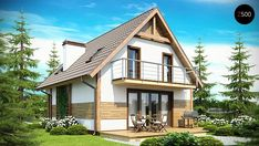 Z45 Tree Bedroom, Gable Roof, Small House Design, Design Case, Home Fashion, Bungalow, Tiny House, House Plans, Sweet Home