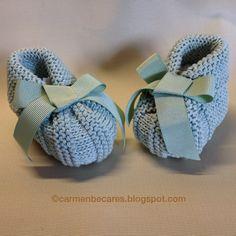 TUTORIAL  BABY BOOTIES. PATUCOS BEBE carmenbecares.blogspot.com
