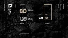 Glav Granit — russian manufacturer and supplier of stone. Website animation.
