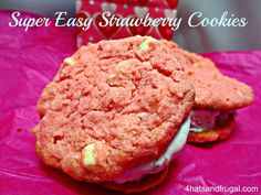 You just can't go wrong with an easy cookie. One that's quick to make, baked just right, and provided little to no effort from you. This is one of those cookies - super easy strawberry cookie recipe.