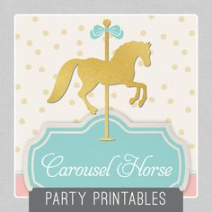 Carousel Horse Party Package INSTANT by MadisonDesignShop on Etsy, $28.00