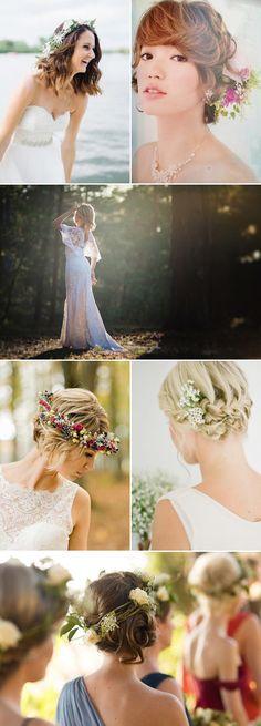 short wedding hairstyles  rustic wedding hairstyles