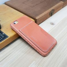Description 100% handmade leather case Type : Adding card pocket on the back ( For skin case in my listing ) Country of origin : Italy Material : Buttero leather(vegetable tanned) If you purchase this product with any other skin case in my listing, you can add card pocket on the back. It can hold 1~2 cards. Buttero leather ? 1. It is 100% French untanned skin so that its surface is smooth, has much oil, and its tissue is dense. The leaher is nature. 2. Through strict dying me...