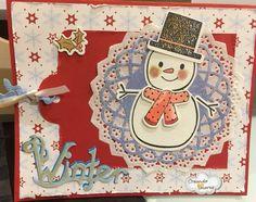 #tarjeta #navideña con un simpático muñeco de nieves!!#CreandoAmoresLive