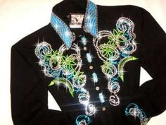 western pleasure show shirts - green and blue<3