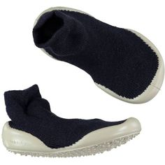 Slipper Socks Navy ($8.81) ❤ liked on Polyvore featuring shoes and slippers