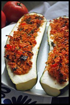 zucchini stuffed with couscous