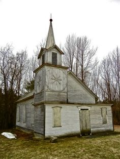 Beautiful structure near Rutland Airport, Vermont. It looks like a church.