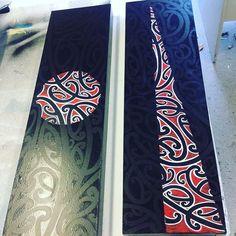 Paintings of mine at Kura Gallery, Auckland #maori #taamoko #maoriartist #maoriart #toihoukura #2016 #art #kuragallery #auckland