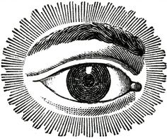 Free Public Domain Image Watching Eye - The Graphics Fairy
