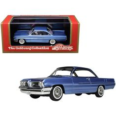 Brand new scale car model of 1961 Pontiac Catalina Twilight Mist Blue Metallic Limited Edition to 220 pieces Worldwide model car by Goldvarg Collection. Chevrolet Bel Air, Chevrolet Impala, Display Showcase, Oldsmobile 88, Pontiac Catalina, Pontiac Cars, Buick Lesabre, Rubber Tires, Ford Motor Company