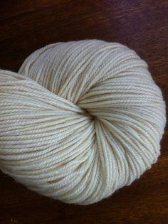 DK Polwarth Silk 3 Ply Natural Undyed Yarn Ecru by stickchick, $10.00