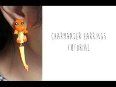 Polymer Clay Pokemon Earrings Tutorial: Charmander - YouTube