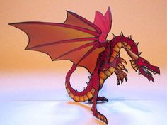2.5D Dragon Paper ModelThis red dragon paper model is one of the better examples to be found of the ...    tektonten.blogspot.com