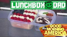 Lunchbox Dad packs EasyLunchboxes for Good Morning America Good Morning America, School Lunch, Show And Tell, Three Kids, Lunch Box, Dads, Packing, Projects, School Lunch Food