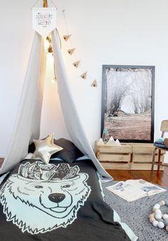 Burrow and Be Frankie's Dream Wonderland - Bear Blanket Bear Blanket, Toddler Blanket, Inspiration For Kids, Room Inspiration, Toddler Rooms, Toddler Bed, Scandinavian Kids Rooms, Kid Spaces, Kid Beds
