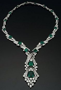 Emerald and Diamond Collar Necklace